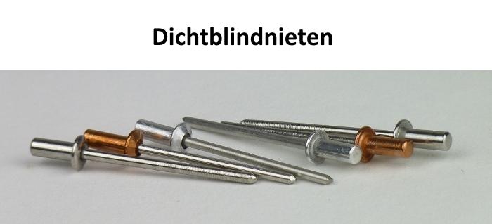 50 Becher-Blindnieten 4,0x11 Dichtnieten 4 x 11  Alu//Stahl Bechernieten