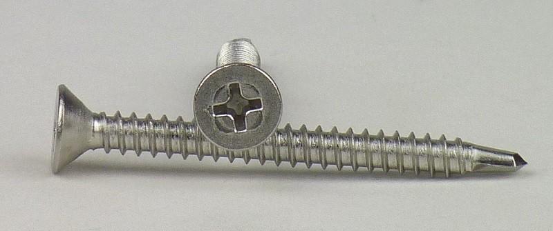 Senkkopf u 50 St/ück Innensechsrund-Antrieb z.B. Aluminium TORX selbstschneidend Edelstahl A2 - V2A Schnellbauschrauben m Bohrschrauben 3,9 X 22 DIN 7504 Form O f/ür Weichmetalle
