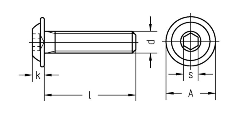 - ISO 7380-1 20 St/ück Vollgewinde rostfreier Edelstahl A2 V2A ISK SC7380-1 Linsenkopfschrauben mit Innensechskant - M3x10 - Flachkopfschrauben