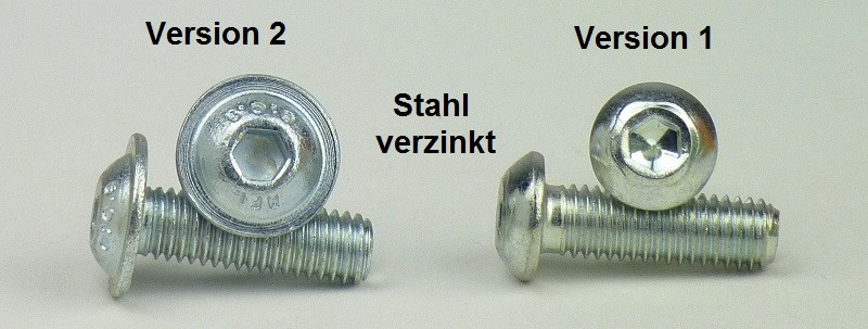 25 St/ück rostfreier Edelstahl A2 V2A Linsenkopfschrauben mit Innensechskant Vollgewinde Flachkopfschrauben - ISO 7380-1 - M5x16 - ISK SC7380-1