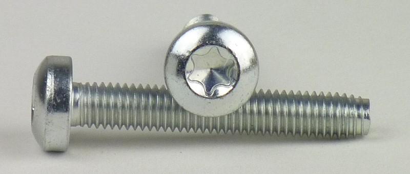 Majsterkowanie TX 30+PIN Edelstahl A2  M 6x 30 500 Stück Sicherheitsschrauben Linsenkopf m