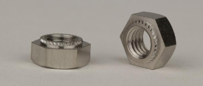 10 Blindnietmuttern  M8 Edelstahl A2 Flachkopf gerändelt Klemmbereich 1-3mm