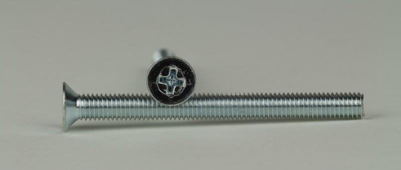 Kreuzschlitz Kreuz- Senkkopfschrauben DIN 965H 25 St/ück Senkkopf Schrauben M3x6 mm V2A 25, M3x6 mm A2 Edelstahl