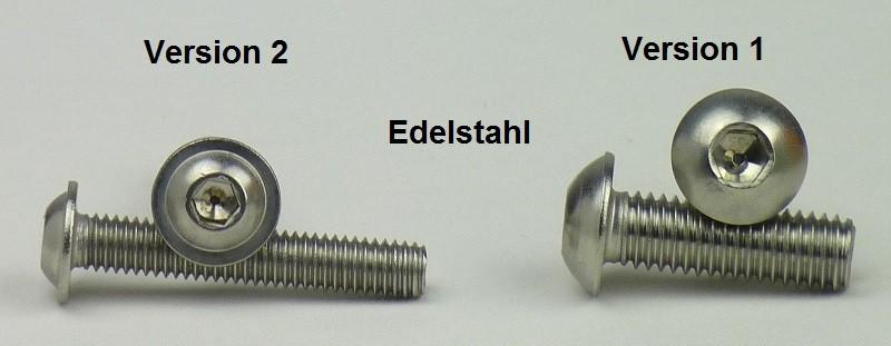 Flachkopfschrauben SC7380-1 - ISO 7380-1 ISK - M6x12 - Vollgewinde rostfreier Edelstahl A2 V2A 25 St/ück Linsenkopfschrauben mit Innensechskant