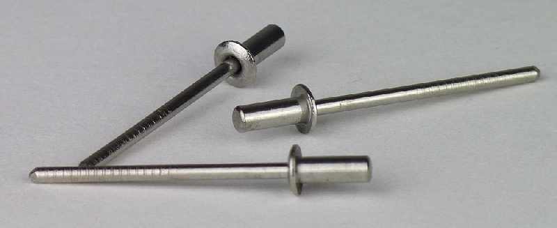 und Wasserdicht 3,2x10,5 mm 100 St/ück Blindnieten Popnieten CUP-Alu//Stahl Flachkopf Nieten Luft