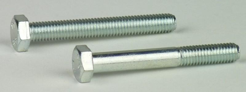 2 Stk DIN 960 Sechskantschraube M12x1,5x120 Feingewinde mit Schaft Stahl