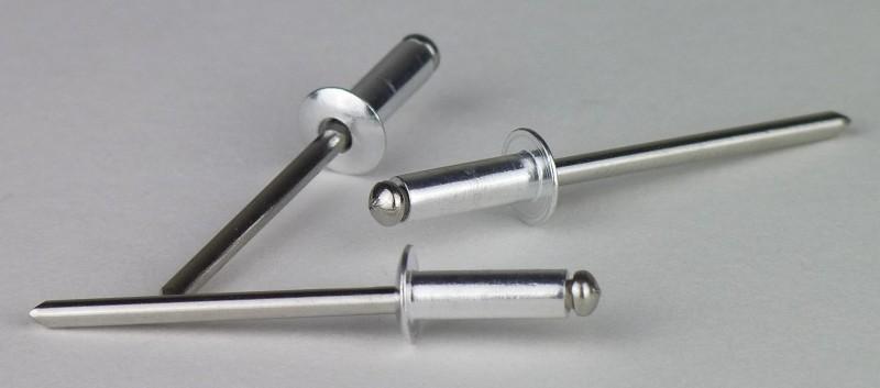 50 Blindnieten 4x8  Kupfer//Bronze Flachkopf  Kupferniet