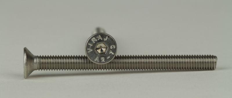 Innensechskant M 5 x 20 10x ISO 10642 Senkschrauben 10.9 blank